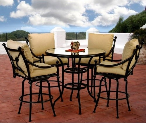 Bar height patio dining set patio design ideas for Bar height patio furniture