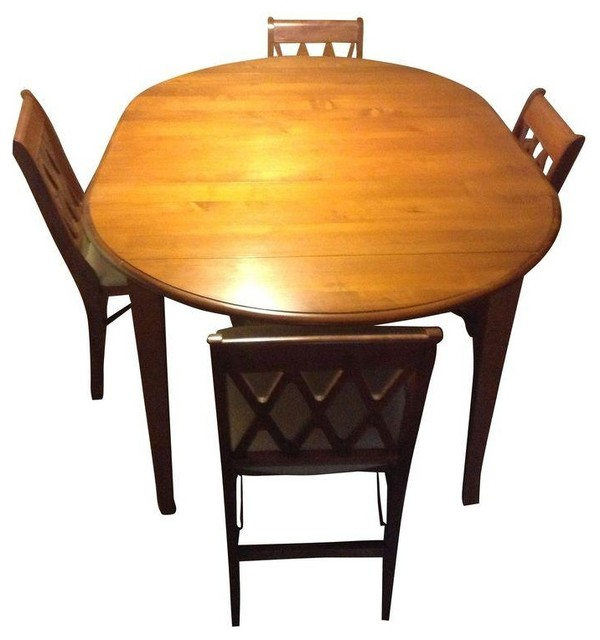 Used Ethan Allen Dining Table with 4 Chairs contemporary-dining-sets