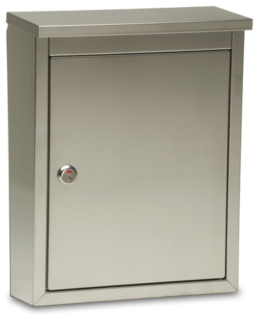 Metropolis Locking Wall Mount Mailbox - Contemporary - Mailboxes - by ...
