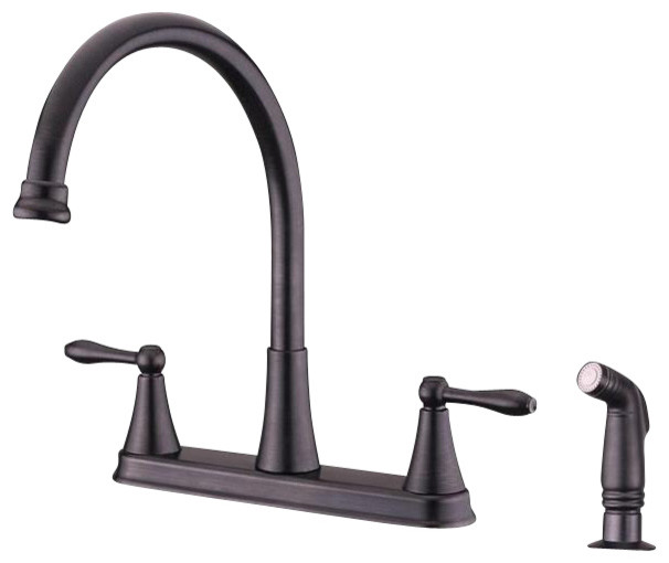 Ultra Faucets UF21145 Faucet w/Side Spray contemporary-kitchen-faucets