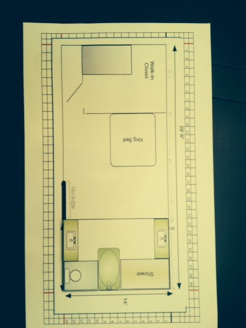 Need help in designing a master bedroom with walk in for Attached bathroom designs
