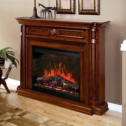 Dimplex Hartford Medium Cherry Electric Fireplace Traditional Fireplaces By Hayneedle