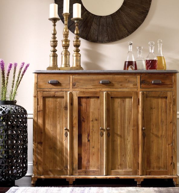 Bluestone Top Tall Sideboard Contemporary Buffets And