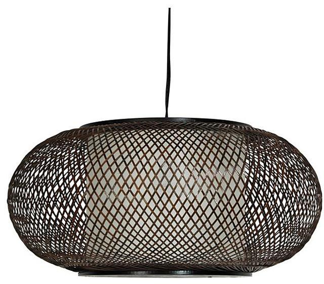 Japanese-Style 15-Inch Kata Ceiling Lantern modern-pendant-lighting