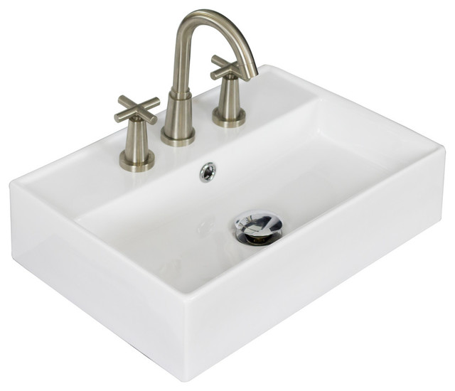 Above Counter Vessel Sink : ... 14-in. D Above Counter Rectangle Vessel contemporary-bathroom-sinks
