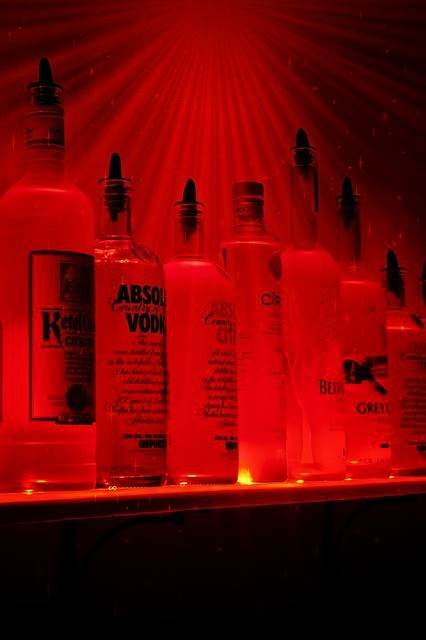LED Liquor Shelves Display From Armana Productions traditional-wall-decals