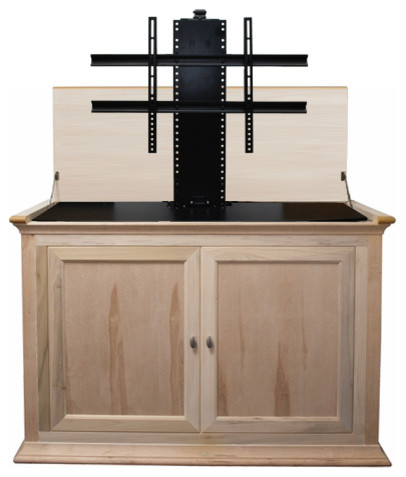 """Hartford Unfinished TV Lift Cabinet for Flat Screen up to 46"""" modern ..."""