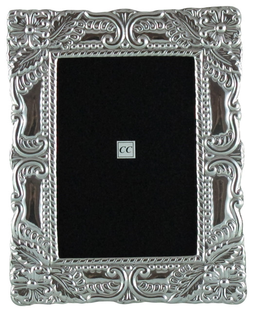sterling silver 4x6 picture frame amazon traditional picture frames by sofia 39 s findings. Black Bedroom Furniture Sets. Home Design Ideas