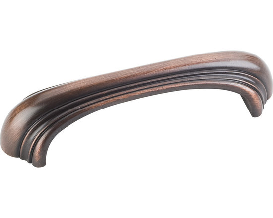 Jeffrey Alexander 613-96DBAC Cabinet Pull Handle - Amsden Series - Standard Size - This brushed oil rubbed bronze finish standard sized cabinet pull with oblong design is a part of the Amsden Series from Jeffrey Alexander and is perfect for use on cabinet doors and drawers capable of accepting a mounted pull.