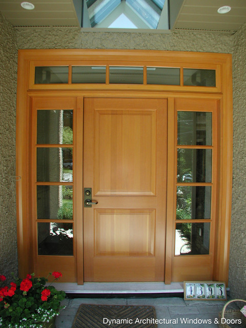 Traditional Douglas Fir Entry Door Traditional Front Doors Vancouver