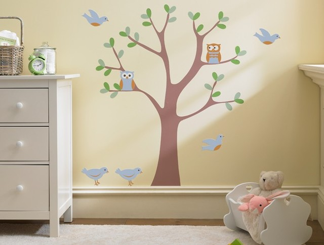 Sweet nature wall decal scene modern nursery decor for Modern nursery decor