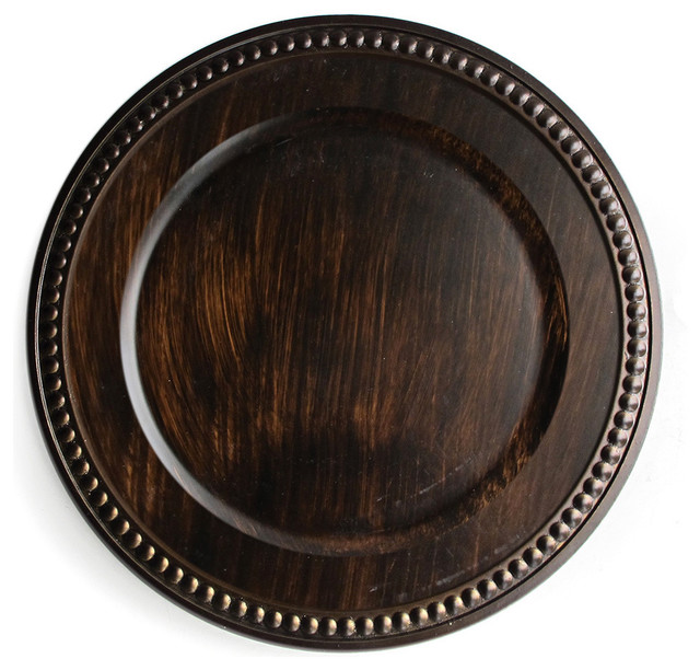 """ChargeIt Brown 14"""" Charger Plate - Contemporary - Charger Plates - by Overstock.com"""