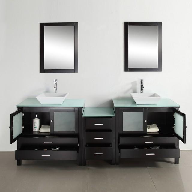 Storage Smart Modern Double Bathroom Vanities For A Master Bathroom Modern