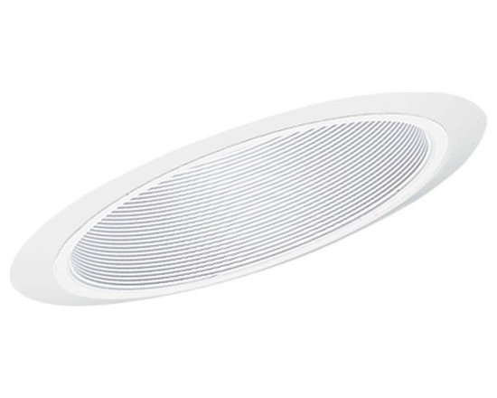 "Juno Lighting - Juno 604 6"" Super Slope Downlight Baffle Trim, 604w-Wh - 6"" Super Slope Downlight Baffle Trim for use with select Juno housings."