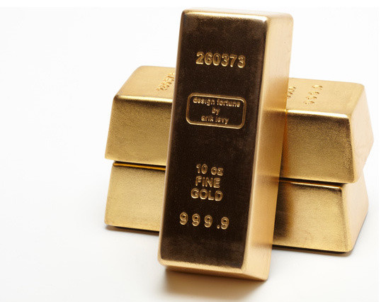 Eno Gold Bricks eclectic accessories and decor