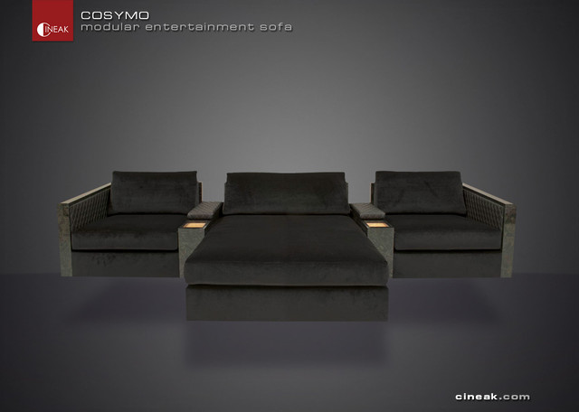 Media Room and Home Theater Sectional Sofa by Cineak - Sofas - other metro - by Cineak Custom ...