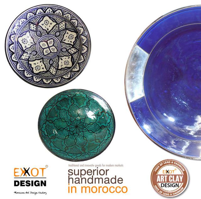 Moroccan handmade Ceramic plates mediterranean-dinner-plates