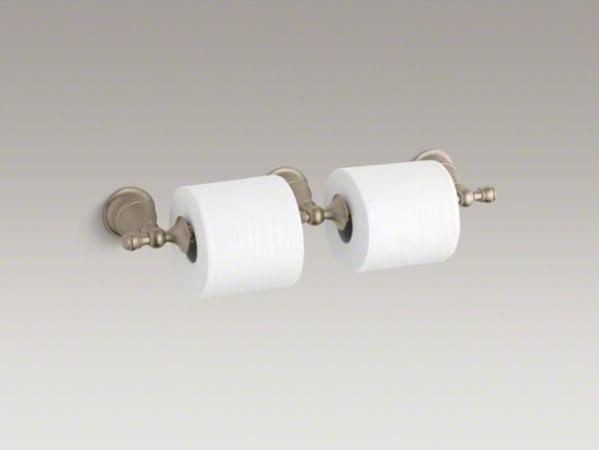 KOHLER Revival(R) double toilet tissue holder contemporary-toilet-paper-holders