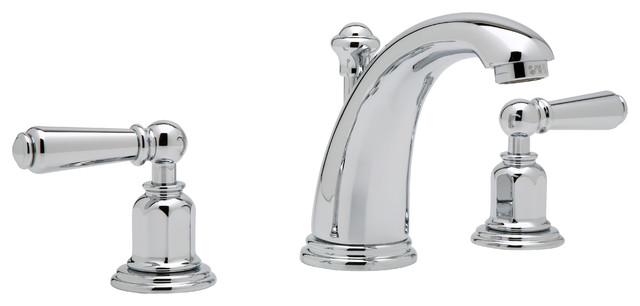 Rohl Perrin Rowe Edwardian 3 Hole High Arc Spout Widespread Lavatory Faucet Traditional