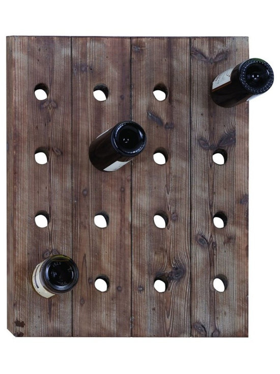 Woodland Imports - Woodland Imports Plank Wood 16 Bottle Wall Wine Rack Multicolor - 55414 - Shop for Wine Bottle Holders and Racks from Hayneedle.com! The Woodland Imports Plank Wood 16 Bottle Wall Wine Rack showcases your favorite wines with minimal chic and rustic charm. Crafted of solid hardwood with a raw weathered finish this contemporary-style wine rack holds up to 16 full-size wine bottles.