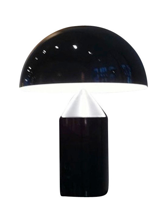 Oluce - Oluce - Atollo 233 Table Lamp - For many years now, Atollo has no longer been a lamp, or rather, it has no longer been just a lamp. It has become a myth, an icon: one of the best know symbols of Italian design world wide, one of the very few products which people recognize and call  with its own name.