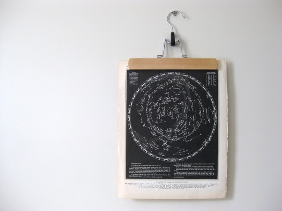 Vintage Star Map by Pine and Main eclectic-artwork