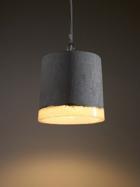 Suspension Concrete contemporary-pendant-lighting