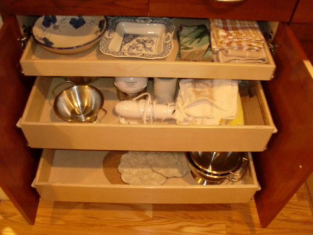 Pull Out Shelves for Your Kitchen Cabinets - Kitchen Drawer Organizers - boston - by ShelfGenie ...