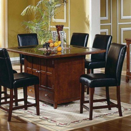 Steve Silver Serena Granite Top 5 Piece Dining Table Set