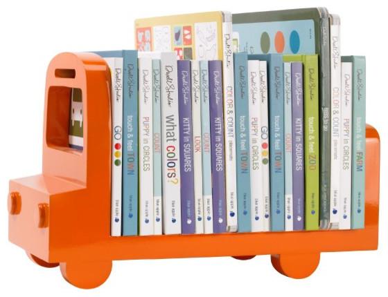 Bookshelf Bus, Orange contemporary-kids-decor