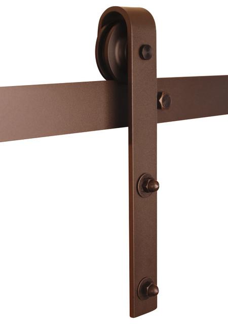 """Classic Barn Door Hardware Kit, Bronze, 6ft Track (for 36"""" or Smaller Door) - Traditional - Barn ..."""