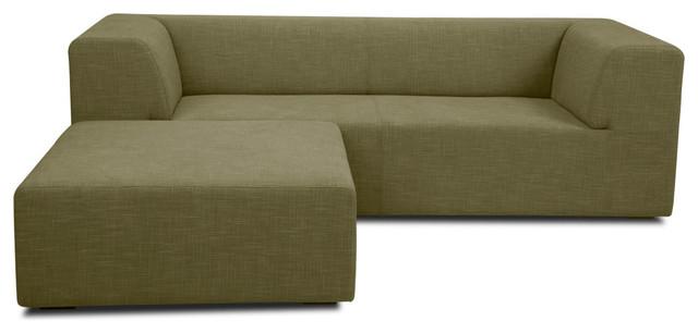 Seed III Green Modular Sofa Set modern-sofas