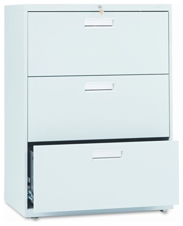 600 Series Three-Drawer Lateral File, 30w x19-1/4d, Light Gray modern-home-office-products
