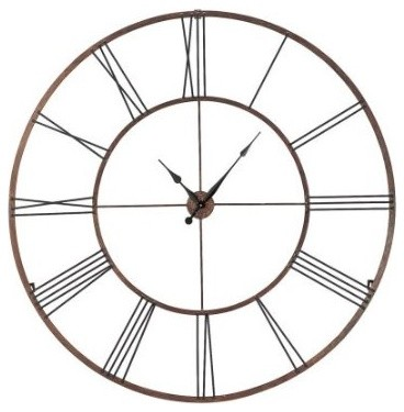 Roman Numeral Design Wall Clock Extra Large Traditional