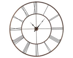 Roman Numeral Design Wall Clock, Extra Large traditional-clocks