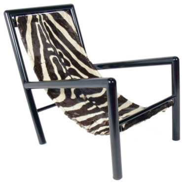 Zebra sling lounge chair contemporary armchairs and accent chairs