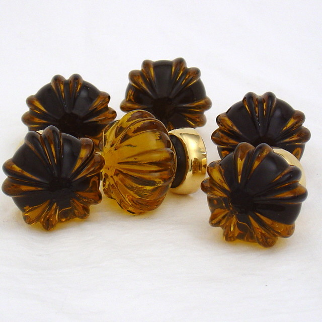 Amber glass cabinet knobs  Traditional  Cabinet And Drawer Knobs