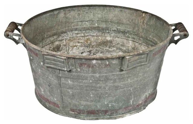 Galvanized Wash Tub Contemporary Storage Bins And