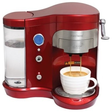 SunCana Single Cup Pod Coffee Maker - Red - Modern - Coffee And Tea Makers - by Hayneedle