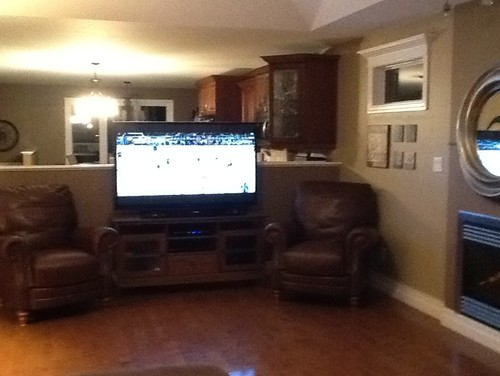 I Need Help With TV Placement half Walls