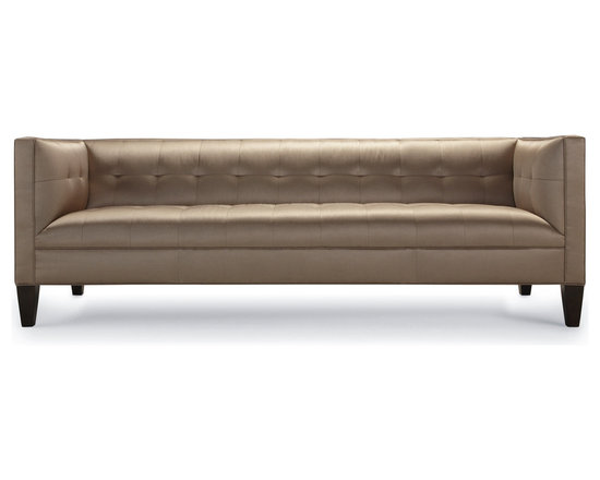 Kennedy Sofa - Like its Presidential namesake, this handsome sofa is designed for the classes yet priced for the masses. Kennedy's modern grid-tufted seat & back are flanked by shelter-style arms that provide a comforting embrace.