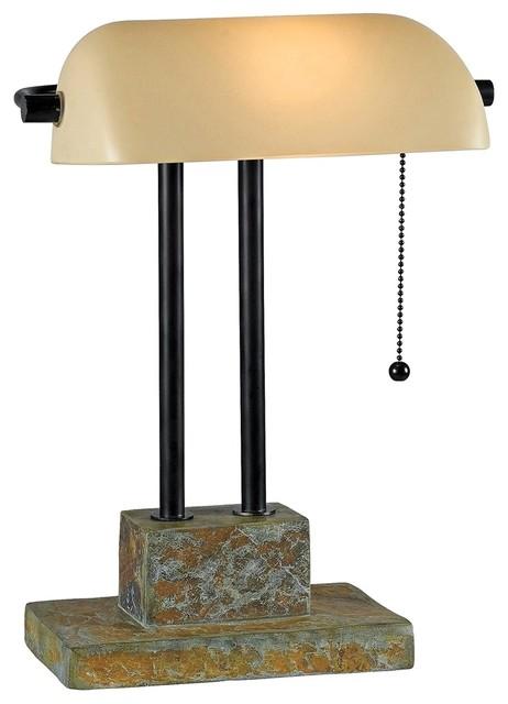 traditional kenroy greenville bankers desk lamp. Black Bedroom Furniture Sets. Home Design Ideas