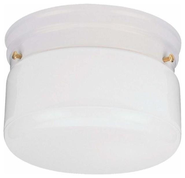 1-Light Ceiling White traditional-flush-mount-ceiling-lighting