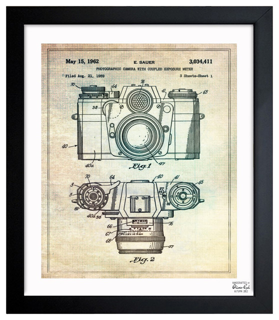 """''Sauer Camera 1962' 10""""x12"""" Framed Art contemporary-prints-and-posters"""