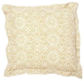Sammie Tile Sham, Euro, Wheat traditional-pillowcases-and-shams