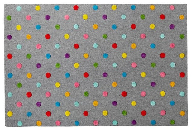 Candy dot rug contemporary kids rugs by the land of nod for Kids carpet designs