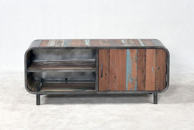 Retro / Midcentury Modern Style TV Entertainment Console - Midcentury - TV Stands & Units ...
