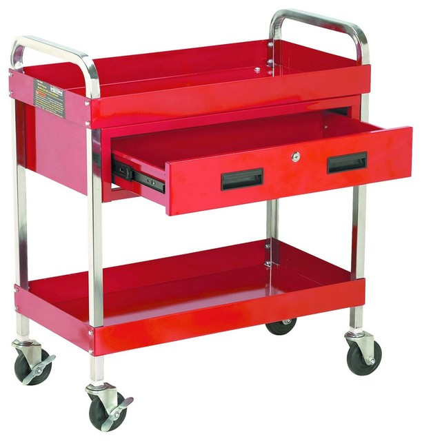 Steel Tool Cart w/ Locking Drawer - Kitchen Islands And Kitchen Carts - other metro - by Harbor ...