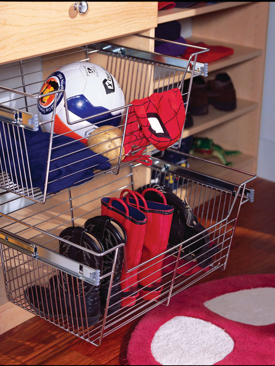 Sliding Closet Baskets -