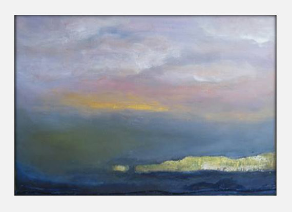 Original abstract landscape canvas modern acrylic painting 24x36